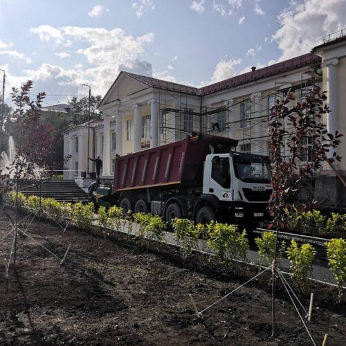 Благоустройство центральной площади город Реж