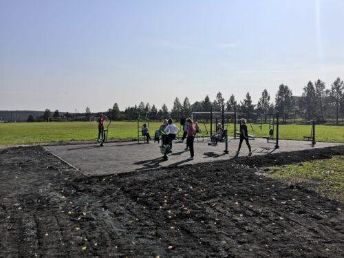 Строительство тренажёрной площадки село Глинское