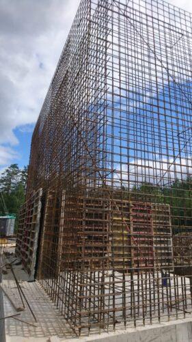 Строительство подпорной стенки для дробильной установки
