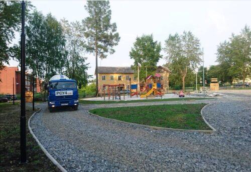 Строительство парка город Реж