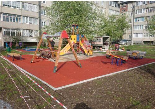 Строительство детских площадок город Реж