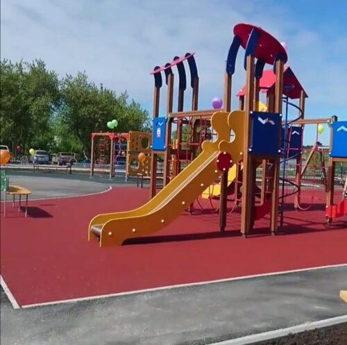 Строительство детского парка город Реж