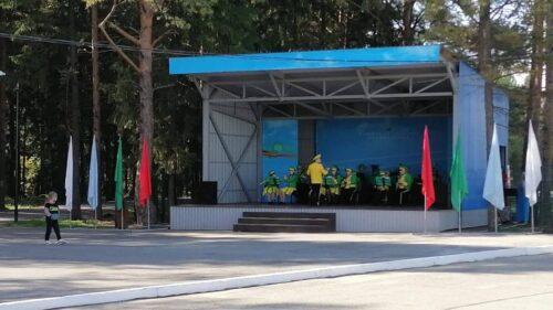 Строительство открытой сцены в п. Верхняя Синячиха